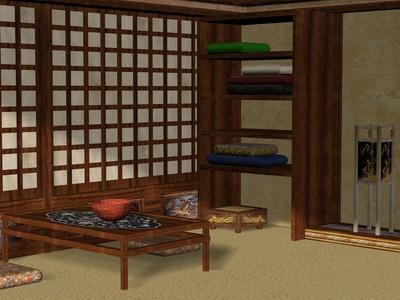 Möbel und Bodenbelag aus Bambus